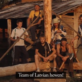 "Latvian hand hewers ""Jam Session"" in Latgale"
